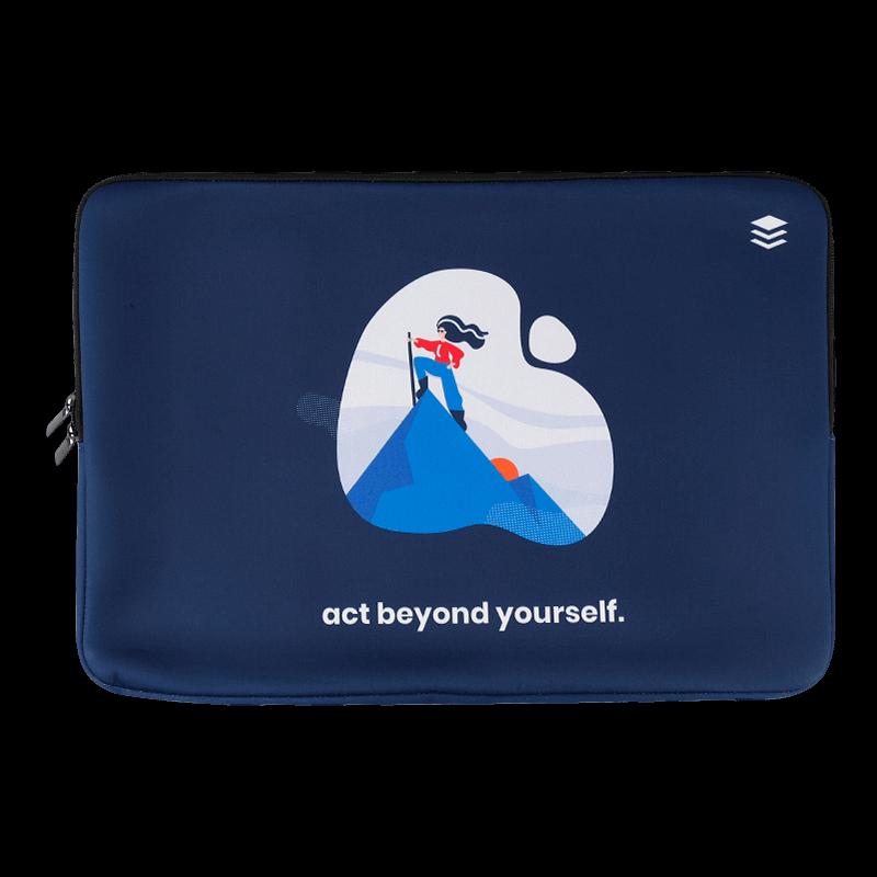 Personalised Linen Finish Neoprene Laptop Bag